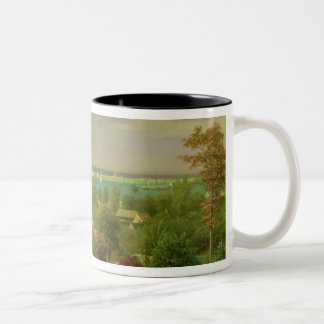 Panoramic View of the Harbour at Nassau in the Bah Two-Tone Coffee Mug
