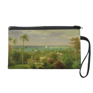 Panoramic View of the Harbour at Nassau in the Bah Wristlet Purse
