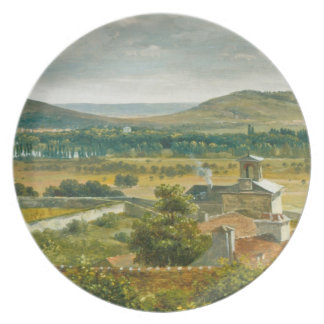 Panoramic View of the Ile-de-France Dinner Plate