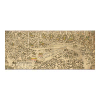 Panoramic view of the Ming Tombs (c. 1736) Card