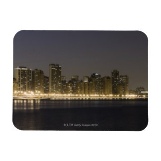 Panoramic view of the north side of Chicago at Rectangular Magnet