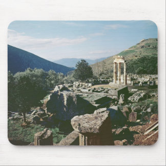 Panoramic view of the site with the tholos temple mouse pad