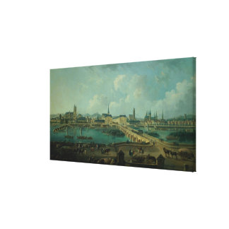Panoramic View of Tours, 1787 (oil on canvas) Canvas Print