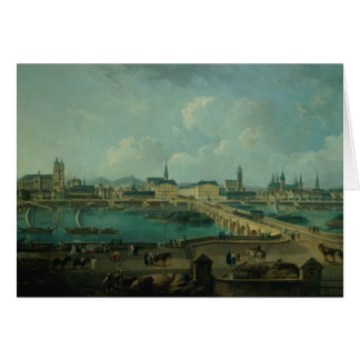 Panoramic View of Tours, 1787 (oil on canvas) Card