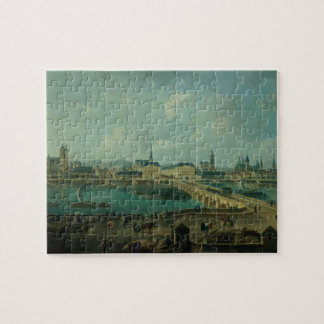 Panoramic View of Tours, 1787 (oil on canvas) Jigsaw Puzzle