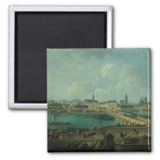 Panoramic View of Tours, 1787 (oil on canvas) Magnet