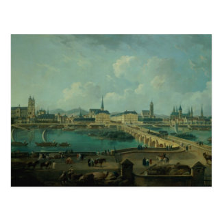 Panoramic View of Tours, 1787 (oil on canvas) Postcard