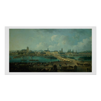 Panoramic View of Tours, 1787 (oil on canvas) Poster