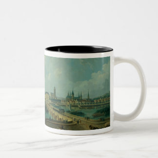 Panoramic View of Tours, 1787 (oil on canvas) Two-Tone Coffee Mug