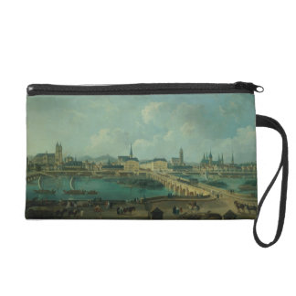 Panoramic View of Tours, 1787 (oil on canvas) Wristlet Purse