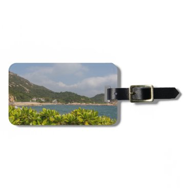Beach Themed Panoramic view of Tung O Village Lamma Island Bag Tag