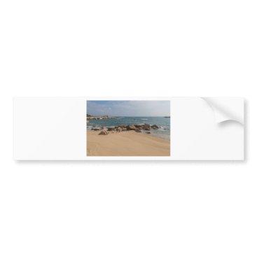 Beach Themed Panoramic view of Tung O Village Lamma Island Bumper Sticker
