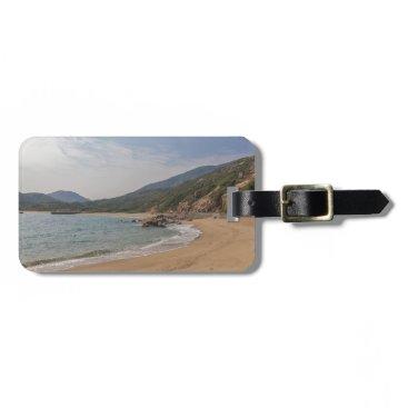 Beach Themed Panoramic view of Tung O Village Lamma Island Luggage Tag