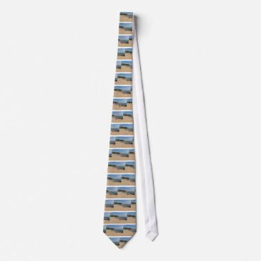 Beach Themed Panoramic view of Tung O Village Lamma Island Tie