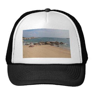 Beach Themed Panoramic view of Tung O Village Lamma Island Trucker Hat