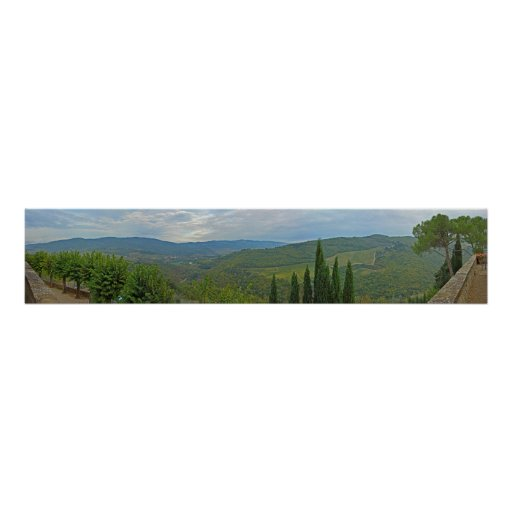 Panoramic View of Wine Country - Chianti, Italy Poster