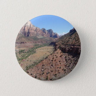 Panoramic View of Zion Canyon from The Watchman Button