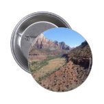 Panoramic View of Zion Canyon from The Watchman 2 Inch Round Button