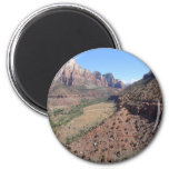 Panoramic View of Zion Canyon from The Watchman Magnet