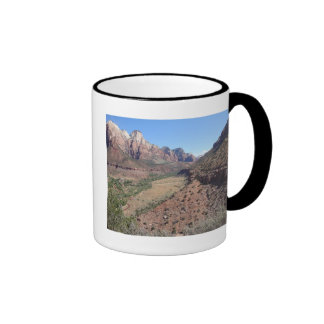 Panoramic View of Zion Canyon from The Watchman Ringer Mug