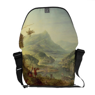 Panoramic view on the Rhine (pair with 59649) Messenger Bag