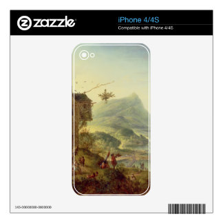 Panoramic view on the Rhine (pair with 59649) Skin For iPhone 4S