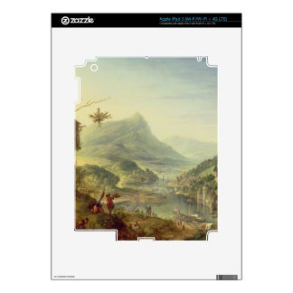 Panoramic view on the Rhine (pair with 59649) Skins For iPad 3