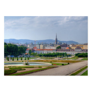 Panoramic View Over Vienna Austria From Belvedere Business Card Template