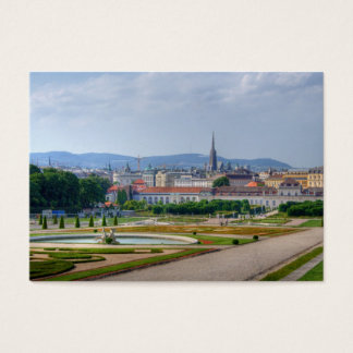 Panoramic View Over Vienna Austria From Belvedere Business Card