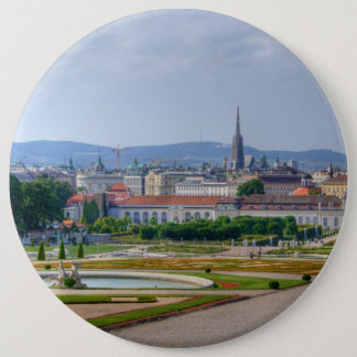 Panoramic View Over Vienna Austria From Belvedere Button