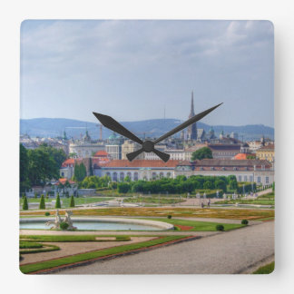 Panoramic View Over Vienna Austria From Belvedere Square Wallclocks