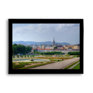 Panoramic View Over Vienna Austria From Belvedere Envelopes