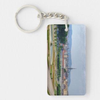 Panoramic View Over Vienna Austria From Belvedere Rectangular Acrylic Key Chain