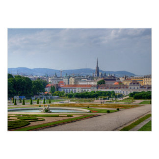 Panoramic View Over Vienna Austria From Belvedere Poster