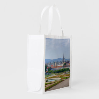 Panoramic View Over Vienna Austria From Belvedere Reusable Grocery Bags