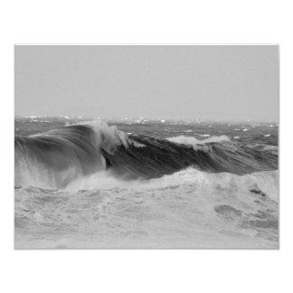 Panoramic Waves Custom Announcements