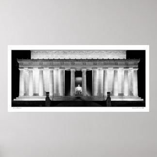 Panorámico conmemorativo de Lincoln Póster