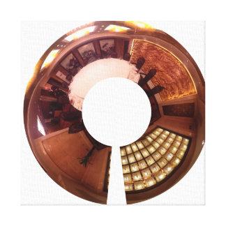 Panorámico decorativo. Diseño interior chino Impresión En Lienzo Estirada