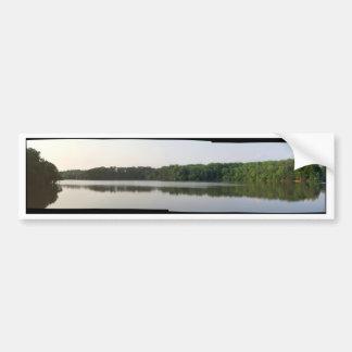 Panorámico del lago Accotink Etiqueta De Parachoque