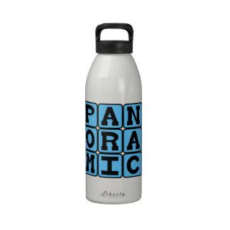 Panorámico estilo de la fotografía botella de agua
