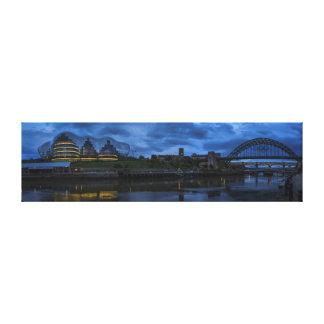 Panorámico olímpico de Newcastle/de Gateshead Tyne Impresión En Lienzo
