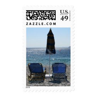 Panormos Beach Skopelos Stamp