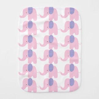 Paños púrpuras y rosados del Burp del elefante del Paños De Bebé
