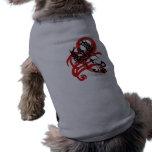 Paños tribales del mascota del cuervo ropa para mascota