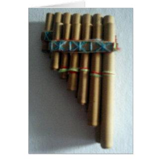 Panpipes andinos tarjetas