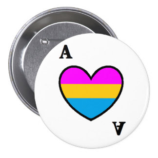 Panromantic Asexual Ace Button