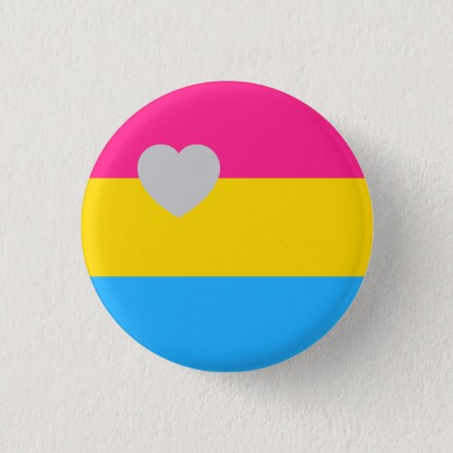 Panromantic Flag Pinback Button