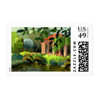 Pan's Garden postage stamp