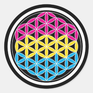 panSacred geometry Classic Round Sticker