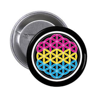 panSacred geometry Pinback Button